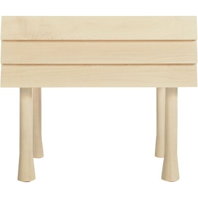 Lap 1 Drawer Nightstand Color: Maple