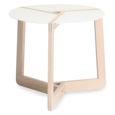Pi Small End Table Size: Large, Color: White Ash