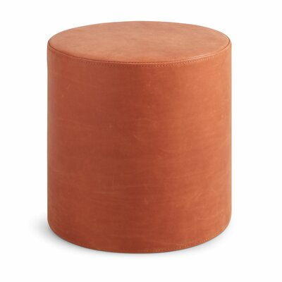 Bumper Ottoman Body Fabric: Terracotta Leather