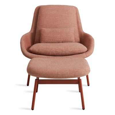 Field Lounge Chair Body Fabric: Edwards Tomato
