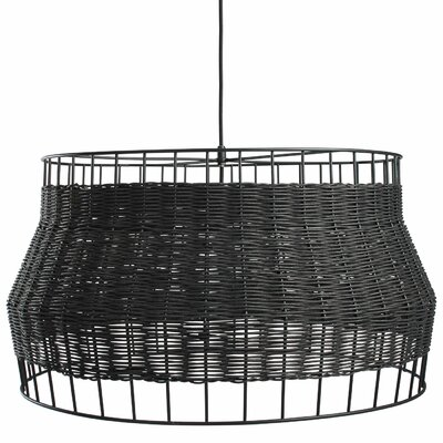 Laika 1-Light Drum Pendant Color: Black