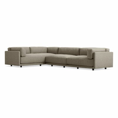 Sunday Right L Sectional Sofa Body Fabric: Sanford Black