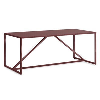 Strut Table Table Size: Large - 74.5, Table Color: Oxblood