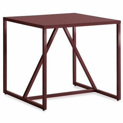 Strut End Table Color: Oxblood