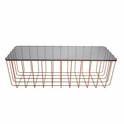 Scamp Medium Coffee Table Top Finish: Glass, Base Finish: Copper, Size: 10 H x 20.5 W x 13.8 D