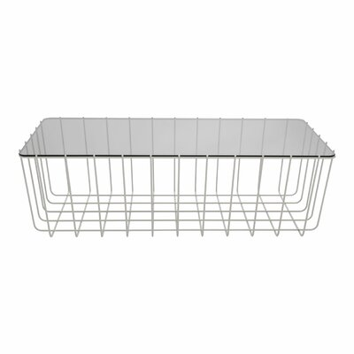 Scamp Medium Coffee Table Top Finish: Glass, Base Finish: White, Size: 18 H x 22.2 W x 22.2 D