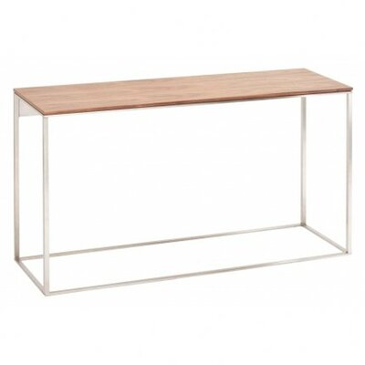 Minimalista Console Table Finish: Walnut