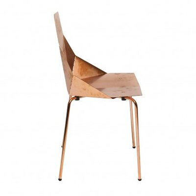 Low Price Blu Dot Real Good Chair Finish: Copper, Seat Pad: Yes