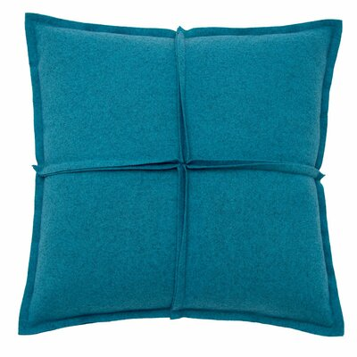 Square Pillow Color: Aqua