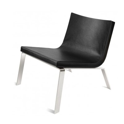 Stella Side Chair Upholstery: Black Faux Leather