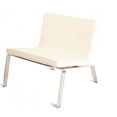 Stella Side Chair Upholstery: Off-White Faux Leather