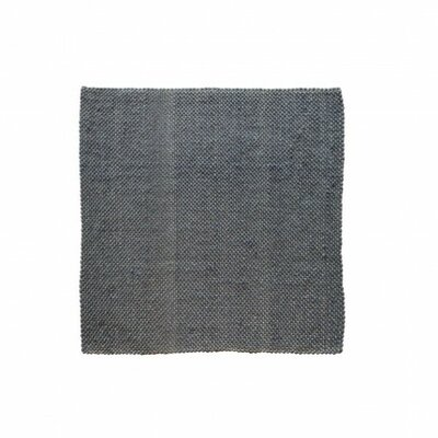 Dash Hand Woven Cotton Slate Area Rug Rug Size: Square 9'