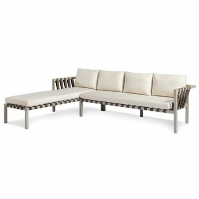 Jibe Outdoor Sectional Collection Cushion Color: Sunbrella Taupe, Frame Color: Carbon