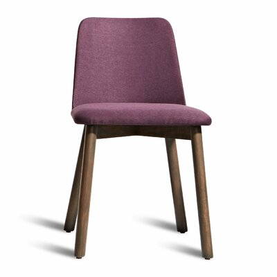 Chip Side Chair Upholstery: Purple, Finish: Smoke