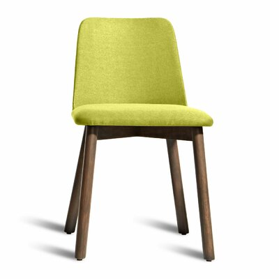 Chip Side Chair Finish: Smoke, Upholstery: Bright Green