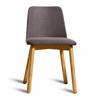 Chip Side Chair Finish: White Oak, Upholstery: Gunmetal