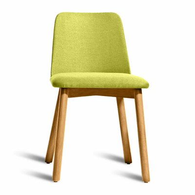 Chip Upholstered Dining Chair Color: White Oak