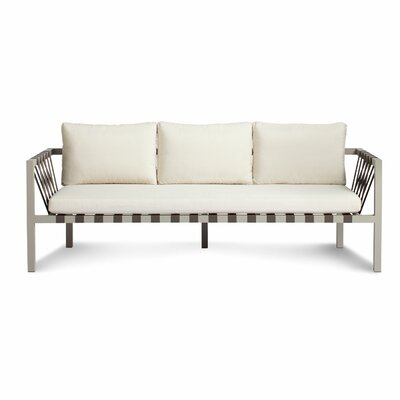 Jibe 3 Seat Outdoor Sofa with Cushions Color: Grey/Sunbrella Canvas