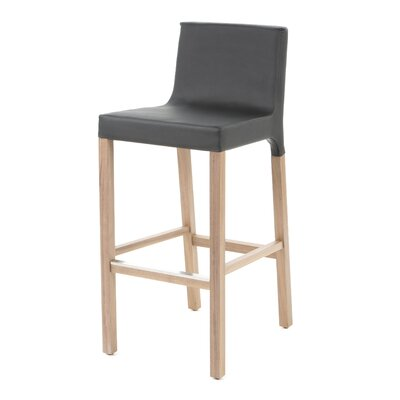 Knicker 31.5 inch Bar Stool Upholstery: Black