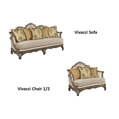 Vivacci 2 Piece Living Room Set