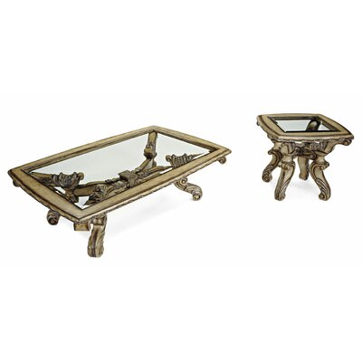 Vivacci 2 Piece Coffee Table Set
