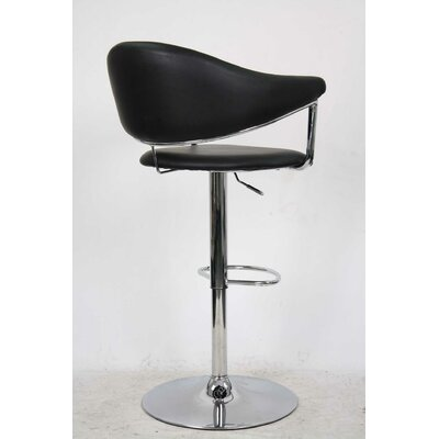 Whalen Furniture Airstream Adjule Height Swivel Bar Stool With