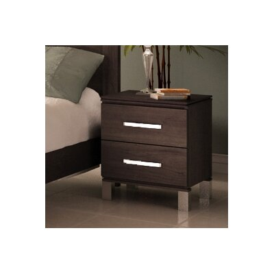 Cranbrook 2 Drawer Nightstand Color: Java