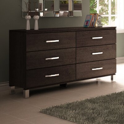 Cranbrook 6 Drawer Double Dresser Color: Espresso