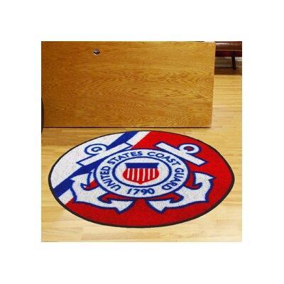 MIL U.S. Coast Guard Round Mat