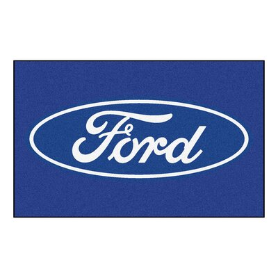 Ford - Ford Oval Doormat Color: Blue