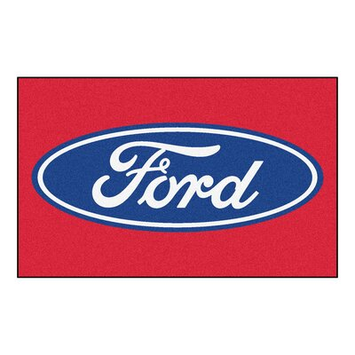 Ford - Ford Oval Doormat Color: Red