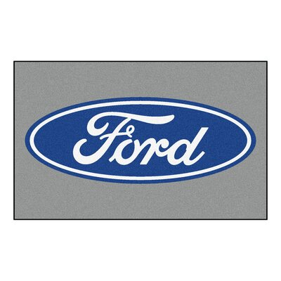 Ford - Ford Oval Doormat Color: Gray
