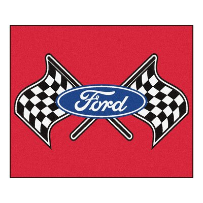 Ford - Ford Flags Tailgater Mat Rug Size: 5 x 6