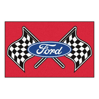 Ford - Ford Flags Doormat Color: Red