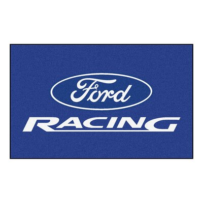 Ford - Ford Racing Doormat Color: Blue