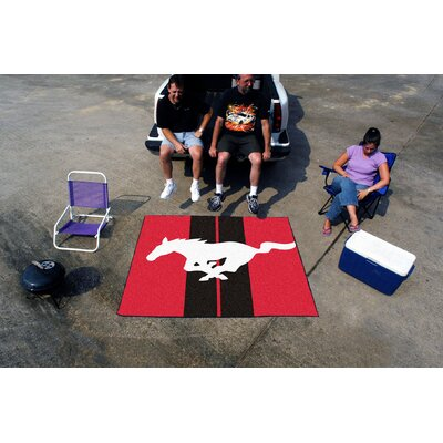 Fanmats Ford Red Mustang Horse Area Rug - Rug Size: 5' x 6'