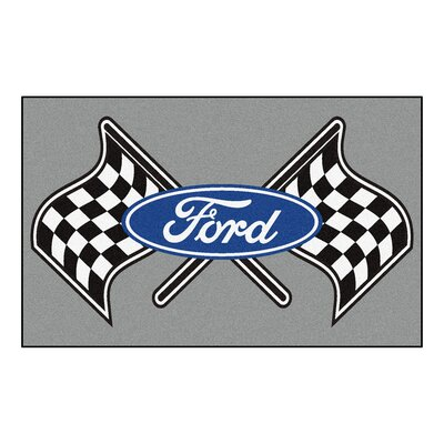Ford - Ford Flags Doormat Color: Gray