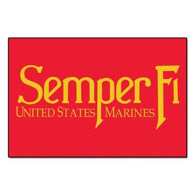 MIL U.S. Marines Doormat Rug Size: 4 x 6