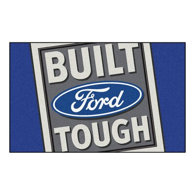Ford - Built Ford Tough Doormat Color: Blue