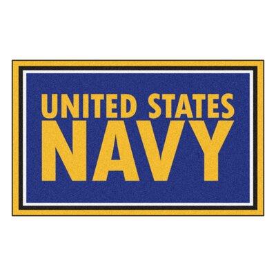 MIL U.S. Navy Doormat Rug Size: 4' x 6'