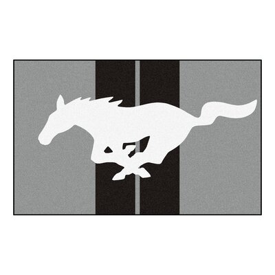 Ford - Mustang Horse Doormat Color: Gray