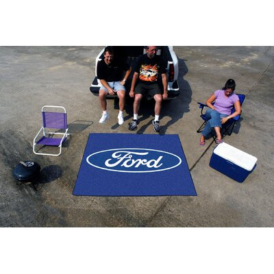 Fanmats Ford Oval Blue Area Rug - Rug Size: 5' x 6'