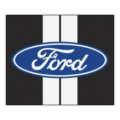 Ford - Ford Oval with Stripes Tailgater Mat Rug Size: 5 x 6