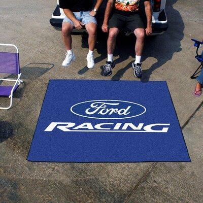 Fanmats Ford Blue Racing Area Rug - Rug Size: 5' x 6'