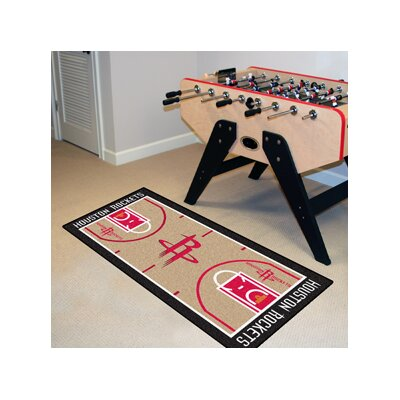 NBA - Houston Rockets NBA Court Runner Doormat Rug Size: 25.5 x 46
