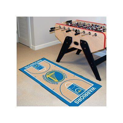 NBA - Golden State Warriors NBA Court Runner Doormat Rug Size: 2' x 3'8