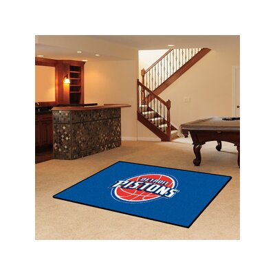 NBA - Detroit Pistons Doormat Rug Size: 5 x 8