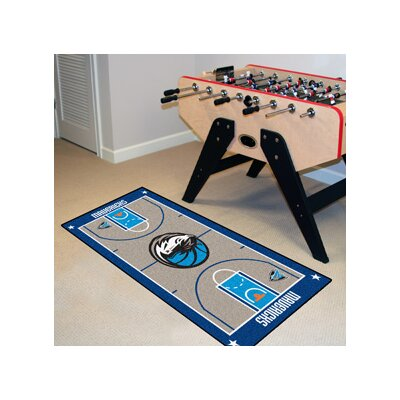 NBA - Dallas Mavericks NBA Court Runner Doormat Rug Size: 2' x 3'8
