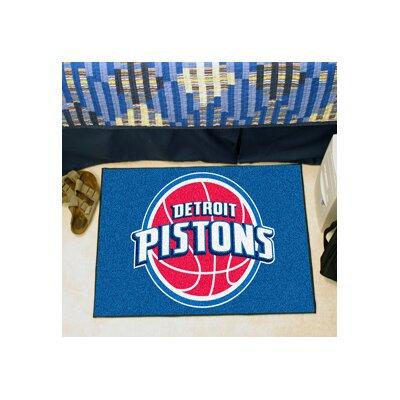 NBA - Detroit Pistons Doormat Rug Size: 17 x 26