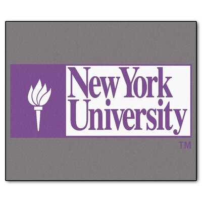NCAA NYU Indoor/Outdoor Area Rug